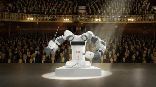ABB collaborative robot YuMi celebrates conducting debut with Andrea Bocelli